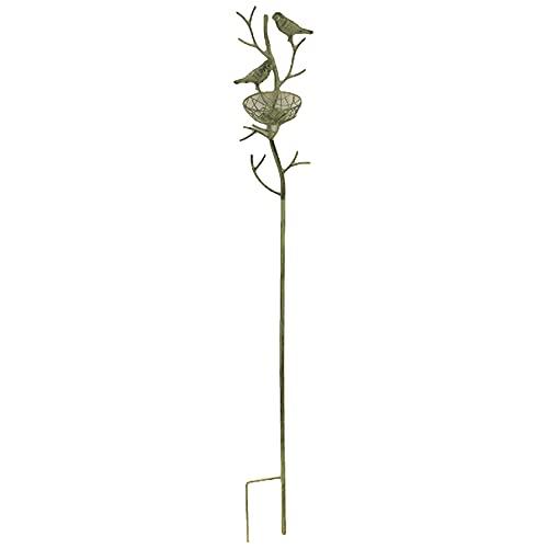 WANSE Enrejado de Obelisco de jardín de Hierro para Plantas trepadoras Soportes de Escalada en Forma de pájaro Soporte de Enrejado de Escalada de Plantas de Hierro Forjado Antiguo Vintage