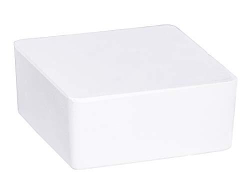 WENKO Raumentfeuchter Cube Nachfüller 1000 g - Luftentfeuchter, Nachfüllpack, Calciumchlorid, 12 x 5 x 12 cm, Weiß