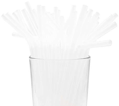 Made in USA Pack of 250 Clear Flexible (8.25' X 0.23') Unwrapped Plastic Drinking Straws (FDA-approved, Non-toxic, BPA-free)
