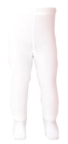 Shimasocks Baby Kinder Leggings Schmetterling & Blumen Summer Filetmusterung, Größe:74/80, Farben alle:weiß