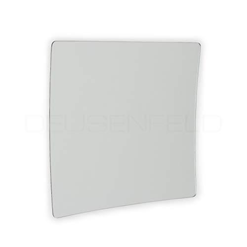 DEUSENFELD KKQ10-15 - eckiger Kosmetikspiegel selbstklebend, Schminkspiegel, Make Up Spiegel Quadro zum Kleben, Starke 10-Fach Vergrößerung, 15x15cm, eckig, Rahmenlos, mit 3M Klebepads