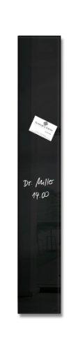 SIGEL GL100 Lavagna magnetica di vetro   bacheca di vetro Artverum, nera, 12 x 78 cm