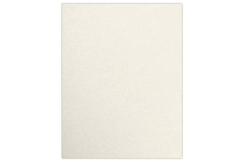"LUXPaper 8.5"" x 11"" Cardstock for Crafts and Cards in 105 lb Quartz Metallic, Scrapbook Supplies, 50 Pack (Off-White) 50 Off Gift Certificates"