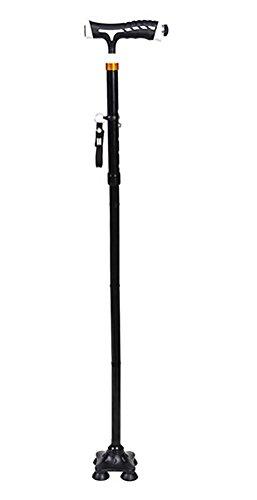 Bastón plegable con luz LED en el mango y la base del pivote Quad consejos para todo terreno con agarre 1 Sustitución de conjunto de punta de caña