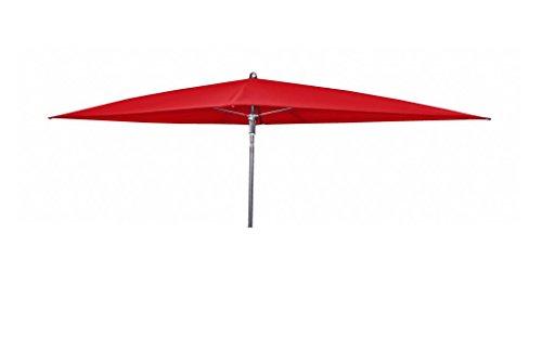 Doppler Absolut wasserdichter Gartenschirm Waterproof 230x190 ohne Volant, UV-Schutz 50 Plus, Farbe rot