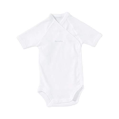 Sanetta Body Portefeuille à Manches Courtes bébé, Blanc