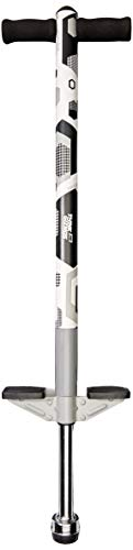 Think Gizmos Pogo Stick - Aero Advantage - for Kids 5,6,7,8,9,10 Years Old or Up to 90lbs Weight - Awesome Quality - Outdoor Fun Pogo Stick for Boys & Girls (White & Black)