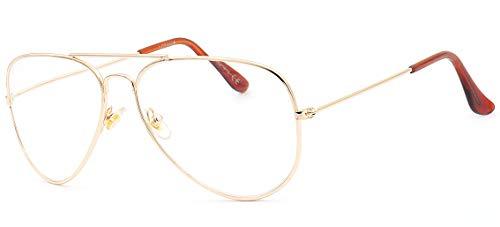 NEWVISIONGafas de Lectura,Gafas de Vista Para Presbicia,Montura de Metal,Estilo Retro Aviador,NV8132 +1.50 dorado
