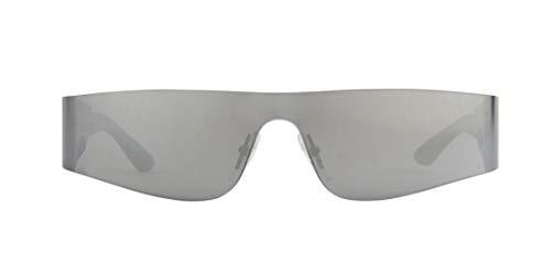 Balenciaga Gafas de sol BB0041S 002 plata tamaño de 99 mm gafas de sol unisex
