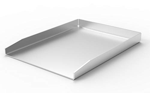 ELITE BBQ V2A Edelstahl Universal Grillplatte BBQ Plancha 40 x 30 massiv 4mm Stärke Grillblech...