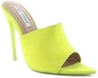 Shoes2Die4 Cape Robbin Cece Blue Suede Pointed Peep Toe Mule