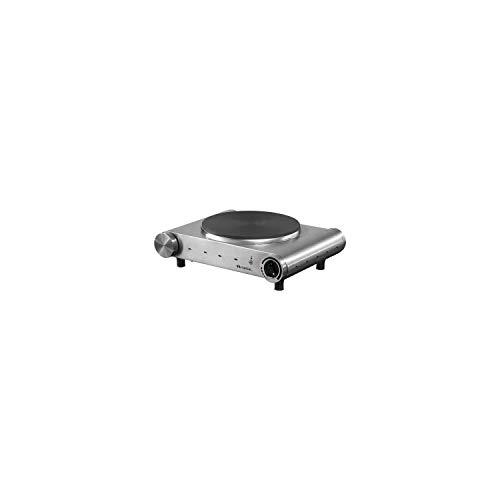 Ariete 993 Fornello Elettrico Singolo, Piastra di Cottura in Ghisa, per Viaggio, Campeggio, Vacanza, Diametro Piastra 188 mm, Temperatura Regolabile, 1500 W, Acciaio