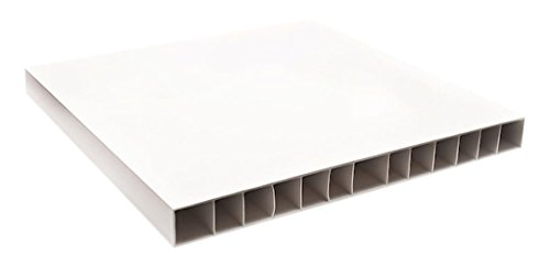Kartell 476303 korte plaat, 35,5 x 16 x 3,5 cm, plastic wit