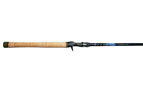 Dobyns Rods 704CB Glass Champion Series Fast Glass Crankbait Rod, 7'0'/Medium, Black/Blue