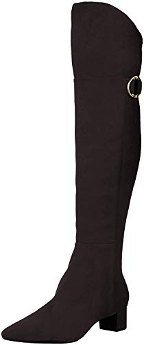 Calvin Klein Women's GEORGEANNA Over The Knee Boot, Black, 4 UK