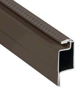 """CRL WSFL7W White 5/16"""" Roll Formed Aluminum Standard Lip Screen Frame - 144"""" Stock Length"""