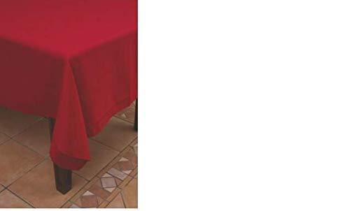 Euronatale Tovaglia per 6 Persone, Rossa, Taglia Unica