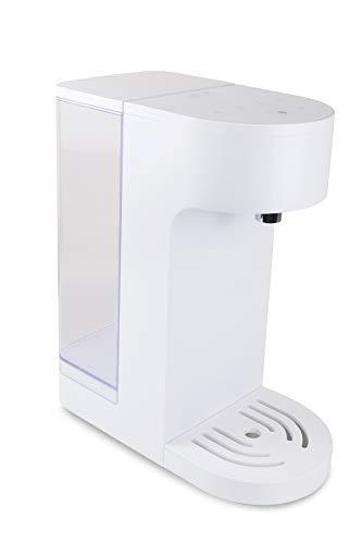 Dispensador instantáneo de agua caliente Yum Asia Oyu con pantalla táctil LED moderna en color blanco, capacidad de 4 litros, 220-240 Reino Unido / UE