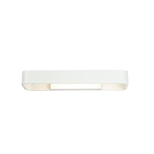 Moderno Lampada Da Parete Semplice Rettangolare Alluminio Led Camera Da Letto Armadio Bagno Lampada Specchio Bagno Lampada Cosmetica Comò Lampada,White-40cm