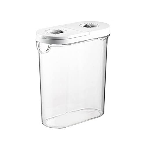 HMEILI Serbatoio sigillato trasparente Close Organizer Plastic Storage Box Contenitori Forniture da cucina Arredamento for la casa (Color : White)