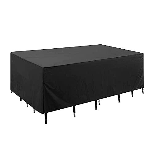 Harsso Cubiertas para juegos de muebles, lona protectora para muebles de jardín, resistente al agua, 420D, lounge impermeable, cubierta para la lluvia, para mesa de jardín, arcón