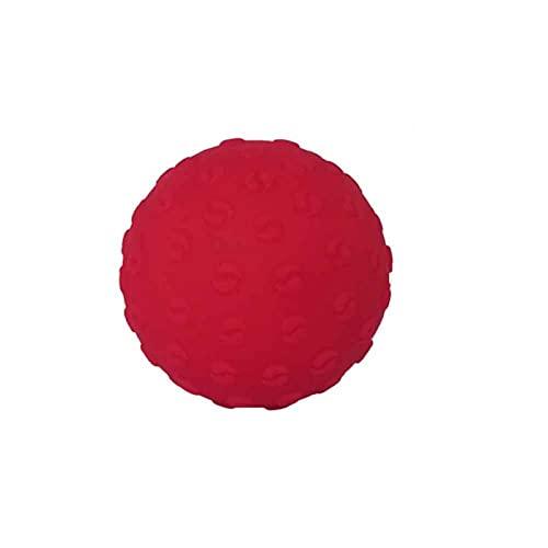 MOVKZACV Bolas de masaje para terapia física, kit de masajeador muscular duradero para pies de mano, alivia la tensión muscular y el dolor de las bolas de masaje (rojo)