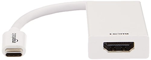 AmazonBasics USB 3.1 Type-C to HDMI Adapter Cable - White