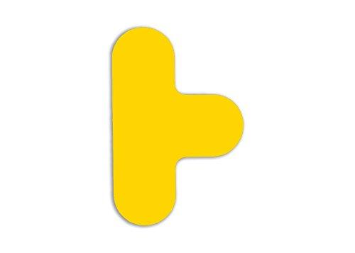 Bodenmarkierungen, T-Stücke, Gelb (20-er Pack)