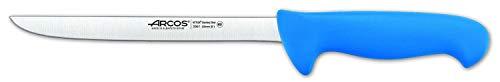 Arcos Séries 2900 - Couteau à Filet - Lame Acier Inoxydable Nitrum 200 mm - Manche Polypropylène Couleur Bleu