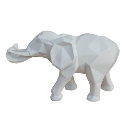 zhongzhichengcheng Decoraciones Adornos De Origami De Elefante Geométrico De Resina Minimalista Nórdica Adornos De Escultura De Animales Domésticos Abstractos Decoración De Escritorio