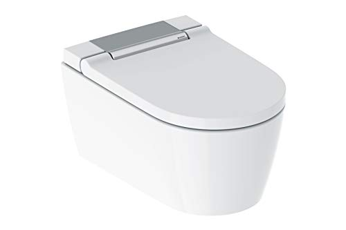 Geberit AquaClean Sela Dusch-WC für die Wandmontage in weiß-Alpin oder glanzchrom, Farbe:Chrom