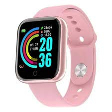 Relógio Smartwatch D20 Pulseira Inteligente Rosa
