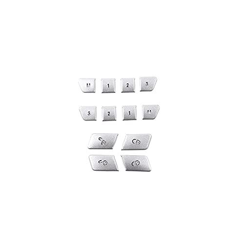 Mizuho 12 unids de Acero Inoxidable Memory Memory Lock Desbloquear Interruptor Botón Botón Ajuste para Mercedes Benz E-Class W212 GLK X204 GLE ML Class W166 (Color Name : 12 Pieces)