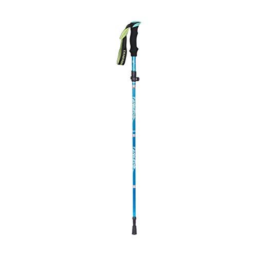 Thuis Opvouwbare Bergbeklimmen Wandelen Cane 5 secties outdoor Folding wandelstok voor ouderen, hemelsblauw, kort