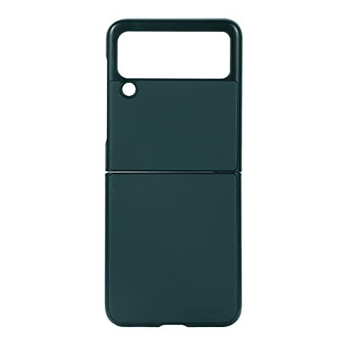 coque Samsung Galaxy Z Flip 3 Hülle/Echtes Leder/Schaf-Muster/360˚Vollschutz, Handytasche zum Zusammenklappen Samsung Galaxy Z Flip 3-Grün