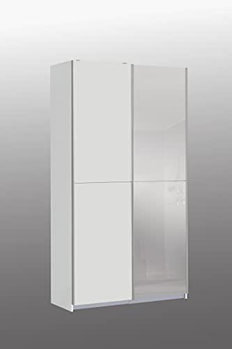 FORTE Kleiderschrank, Holzwarkstoff, Weiss, 120 x 190,5 x 61,2 cm