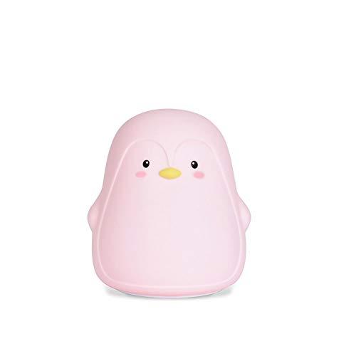 Pinguin siliconen pinguïn contact, bureaulamp, USB, sfeer-tekening, cartoon pinguïn, slaapkamer, bed, kleurrijk nachtlampje, geschikt voor slaapkamers
