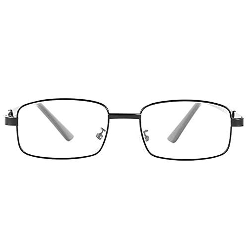 Lentes de Lectura Lector de Marco de Metal Lentes de Bloqueo de Luz Azul con Bisagras de Resorte para Hombres Mujeres Reducen La Fatiga Ocular Ligero Lupa Antideslumbrante