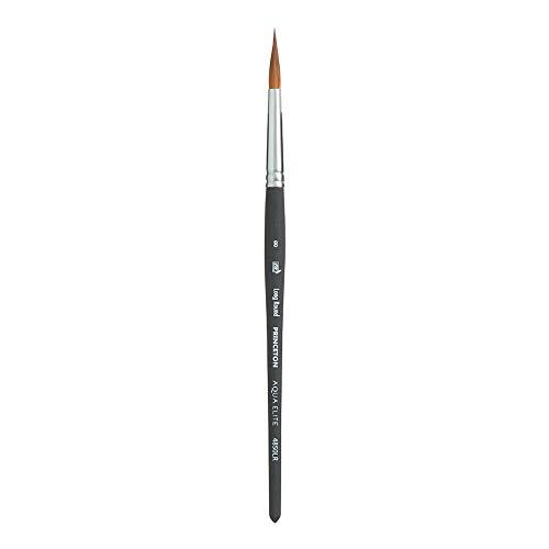 Princeton Aqua Elite NextGen Artist Brush, Series 4850 Synthetic Kolinsky Sable for Watercolor, Long Round, Size 8