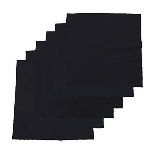 HEMOTON 6 servilletas de tela negra para cena, servilletas sólidas, lavables, toallas...