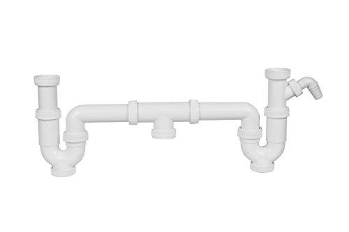 Aqualy® Doppel Siphon Spülbecken mit Toma