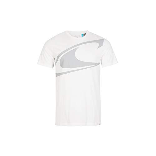 O'NEILL Maglietta da Uomo Zoom Wave, Uomo, T-Shirt, 1A2360, Bianco, M