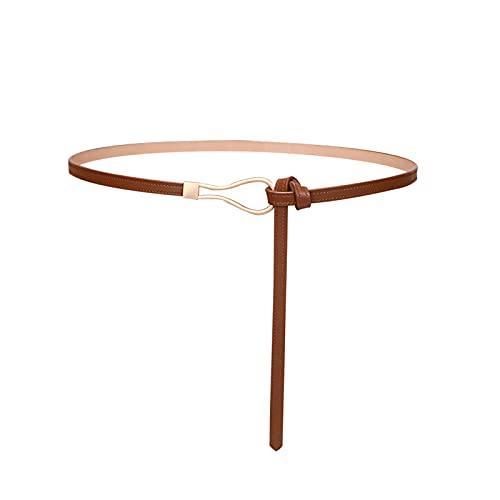 FENRIR Cinturón de mujer sin hebilla, cinturón fino de mujer de 1 cm de ancho. Cinturón de mujer de longitud ajustable, cinturón decorativo de moda a juego con cinturón de suéter.