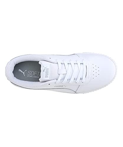 PUMA Carina L, Zapatillas Mujer, White-White-Silver, 38 EU