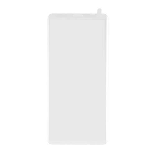 cvbf 6D Curved Full Cover Protector de Pantalla de Vidrio Templado Anti-Fingerprint HD Película de Vidrio de protección Completa para Samsung Galaxy(Color: Transparente)