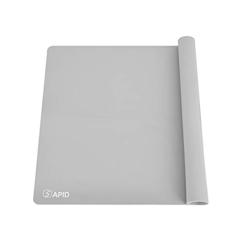 Sapid Thick Silicone Mat for Crafts(15.7'×23.6'), Large Silicon Sheet for Epoxy Resin, Jewelry Casting, Art Painting, Nonstick Nonslip Pastry Mat, Heat- Resistance Countertop Mat (Gray)