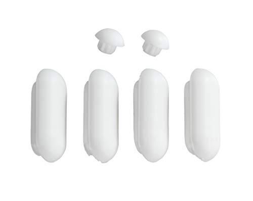 WENKO WC-Sitz Auflagestopfen für Duroplast Acryl WC-Sitze, Kunststoff, 2 x 1 x 4.6 cm, Weiß