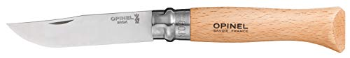 Opinel No9 Stainless Steel Knife - Beechwood Handle