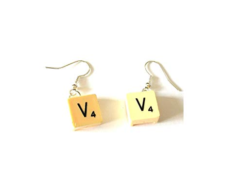 Travel Scrabble® Earrings made with Recycled Vintage Tiles with Choice of Letters and Metals Gift Box
