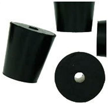 Amazon com: WIDGETCO #3 Rubber Stoppers with 1-Hole: Home